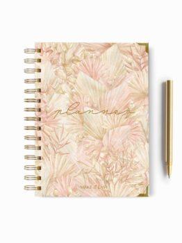 planner różowa okładka