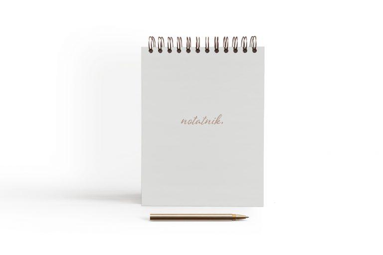 notatnik szary
